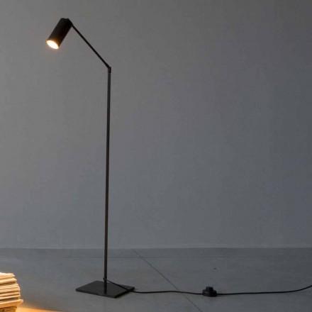 Stehlampe aus Eisen und Aluminium mit einstellbarem Licht Made in Italy - Farla