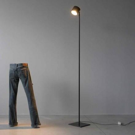 Minimale Stehlampe aus Eisen und schwarzem Aluminium Made in Italy - Osiris