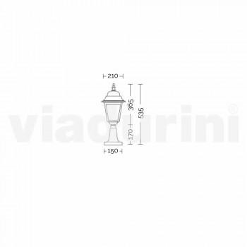 Außenstehleuchte aus Aluminium, hergestellt in Italien, Aquilina