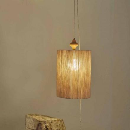 Stehlampe/Hängelampe aus Holz und 100% Wolle Bois