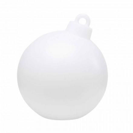 Innen- oder Außendekor Lampe Roter, weißer Weihnachtsball - Pallastar