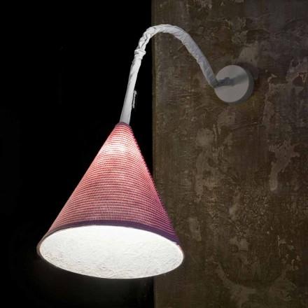 Designer Wandleuchte In-es.artdesign Jazz A Stripe farbige Wolle
