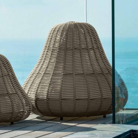 Große Designlampe Jackie Talenti für den Garten in synthetischem Seil