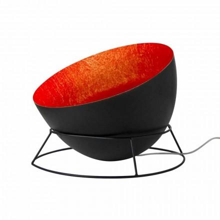 Lampe aus Stahl und Nebel aus dem Boden In-es.artdesign H2o F farbig