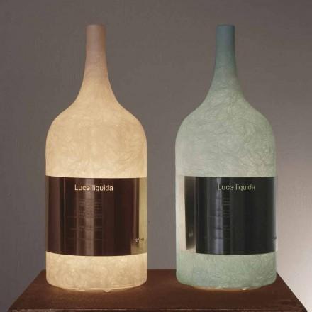 Tischleuchte aus farbigem Nebel In-es.artdesign Luce Liquid1