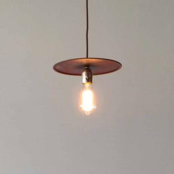 Hängende Eisenlampe mit handwerklicher Baumwollschnur Made in Italy - Ufo
