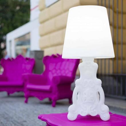 Design helle Tischlampe Slide Lady of Love, hergestellt in Italien