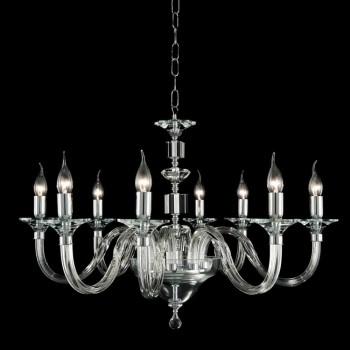 8 Lichter Glas Design Kronleuchter mit Ivy Kristall Dekorationen
