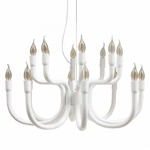 Aufhängungsleuchter mit 16 oder 32 Lichtern aus weißem oder schwarzem Aluminium - Alviso