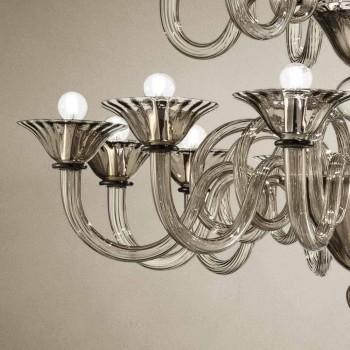 Artisan Kronleuchter mit 18 Lichtern aus Venedig Glas, Made in Italy - Margherita
