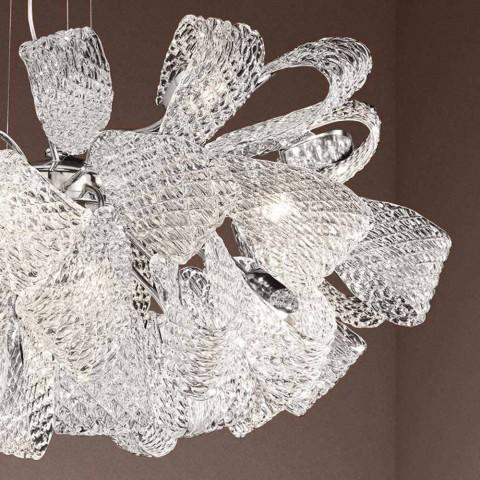 Artisan Kronleuchter mit 21 Lichtern aus venezianischem Glas, Made in Italy - Diamonique