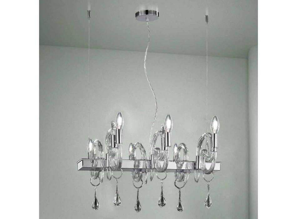 Artisan 6-flammiger Kronleuchter aus Venedig Glas Made in Italy - Bernadette