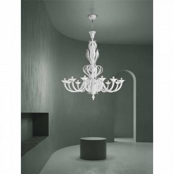 12 Lichter Venedig Glas Kronleuchter Handgefertigt in Italien - Agustina