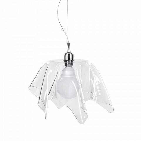 Designer transparenter Kronleuchter mit drapierter Daphne aus Italien