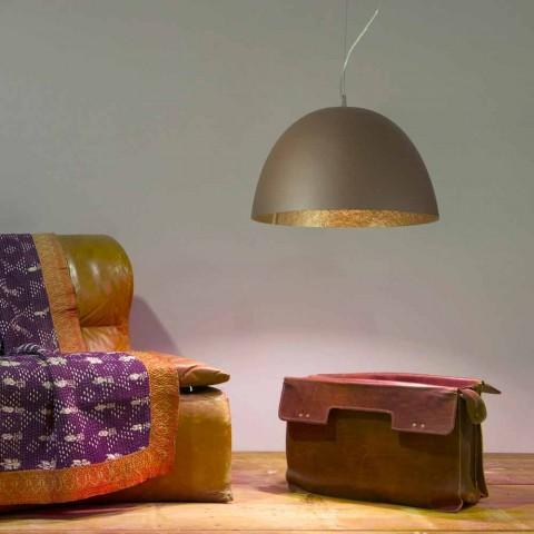 Moderne Design-Kronleuchter In-es.artdesign H2o aus farbigem Nebulite