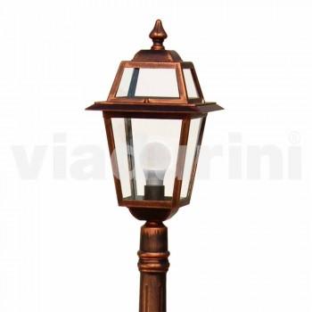 Niedrige Straßenlampe für den Außenbereich aus Aluminium, hergestellt in Italien, Kristel