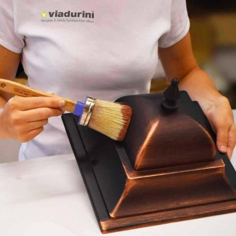 Niedrige Außenlampe aus Aluminium made in Italy, Kristel