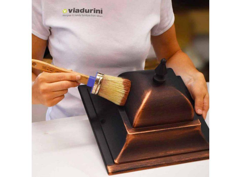 Außenlampe mit zwei Lichtern aus Aluminium hergestellt in Italien, Aquilina