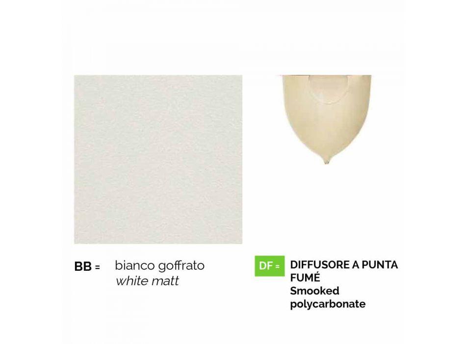 Wandlaterne für den Außenbereich aus weißem Aluminium, hergestellt in Italien, Anusca