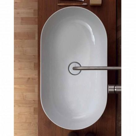 Aufsatzwaschbecken 70x35 aus Keramik made Italy Star, modernes Design