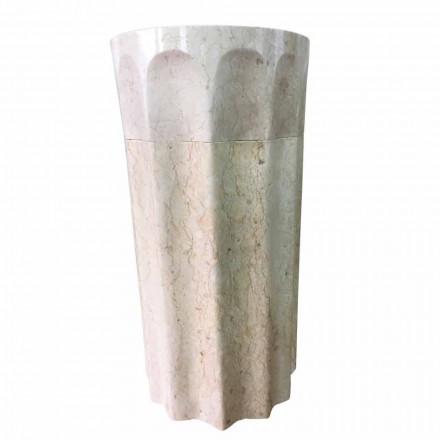 Naturstein freistehendes Waschbecken weiße Farbe Daisy, Einzelstück