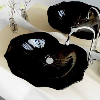 Waschbecken modernes Design Unterstützung in Form von Blatt Faruglium