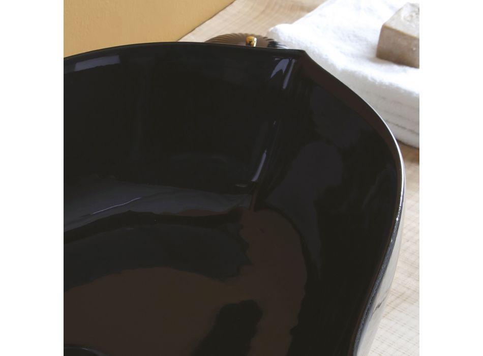 Aufsatzwaschbecken aus glänzender Keramik Made in Italy - Oscar