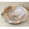 Aufsatzwaschbecken aus natürlichem Onyx-Stein Ana, handgefertigt