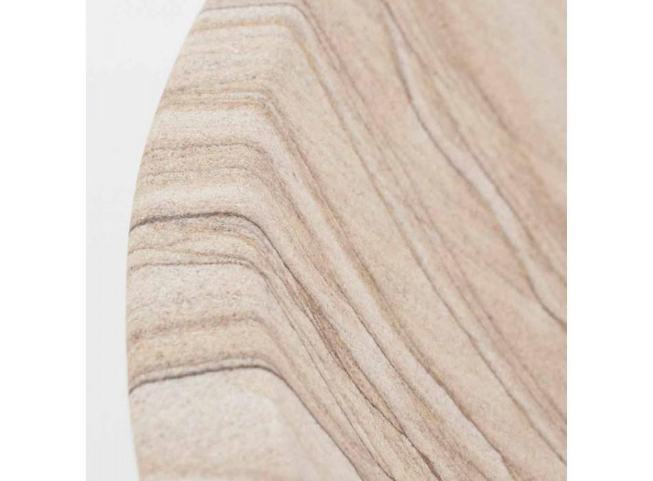 Aufsatzwaschbecken aus Sandstein in runder Form - Cerasolo