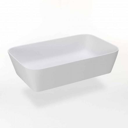 Rechteckiges Aufsatzwaschbecken aus Mattharz Made in Italy - Cavan
