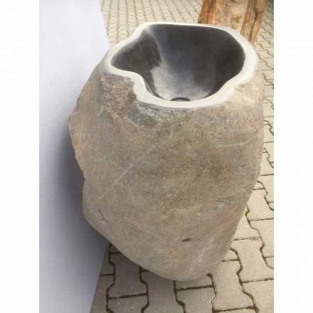 Design freistehendes Waschbecken aus Naturstein Stute, Einzelstück