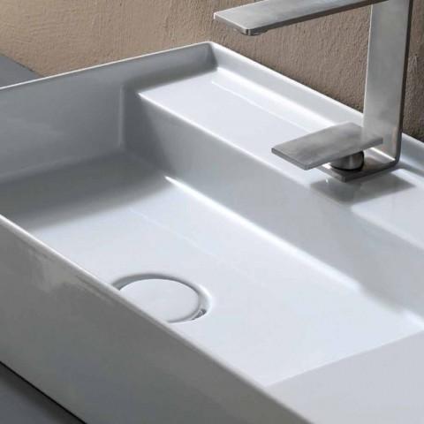 Keramik Waschbecken Arbeitsplatte modernes Design in Italien gemacht Sonne 65x40 cm