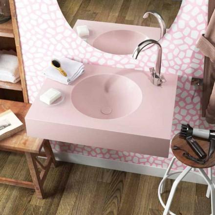 Rundes Wand Hängewaschbecken aus Luxolid in Italien hergestellt,Ruffano
