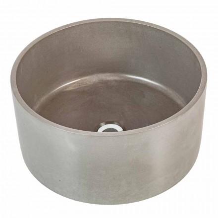 Design rundes Aufsatzwaschbecken aus Zement Rivoli