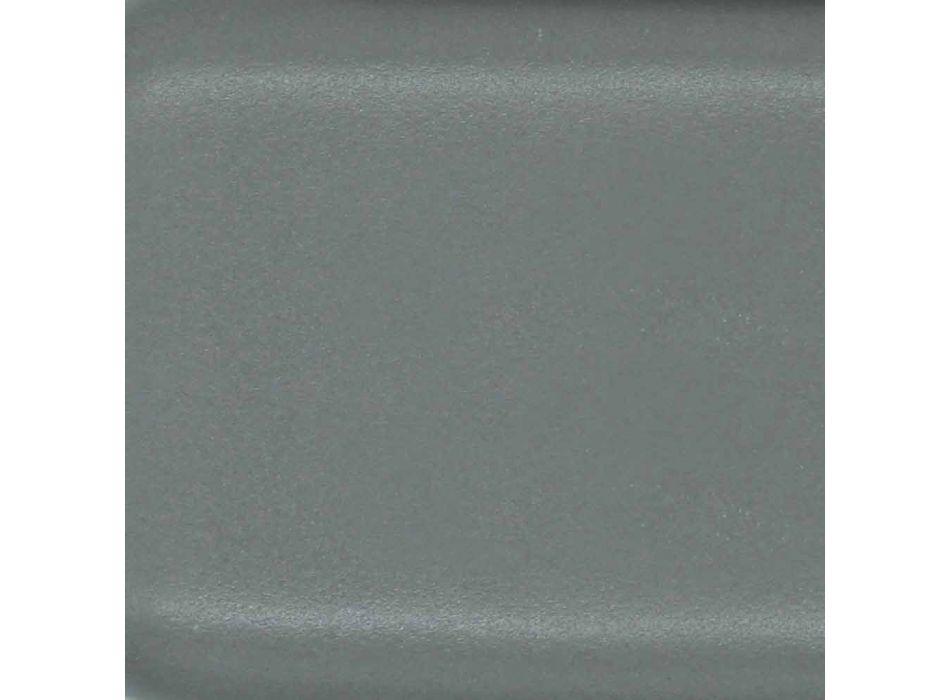 Aufsatzwaschtisch in Kugelform aus farbigen Keramikfliesen