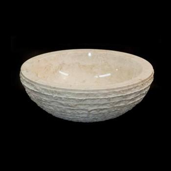 Waschbecken Weiß Unterstützung Naturstein Finn, ein Stück