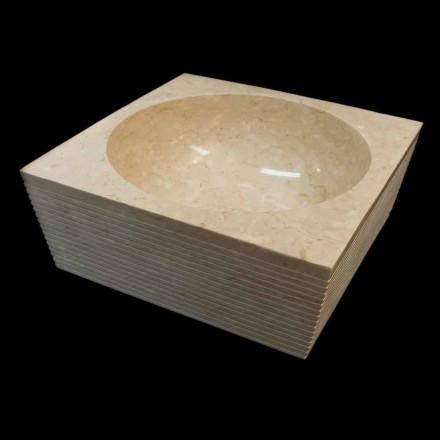 Aufsatzwaschbecken aus Naturstein weiß Zor, Einzelstück