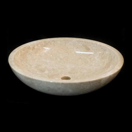 Aufsatzwaschbecken aus Naturstein weiß Ziva, Einzelstück