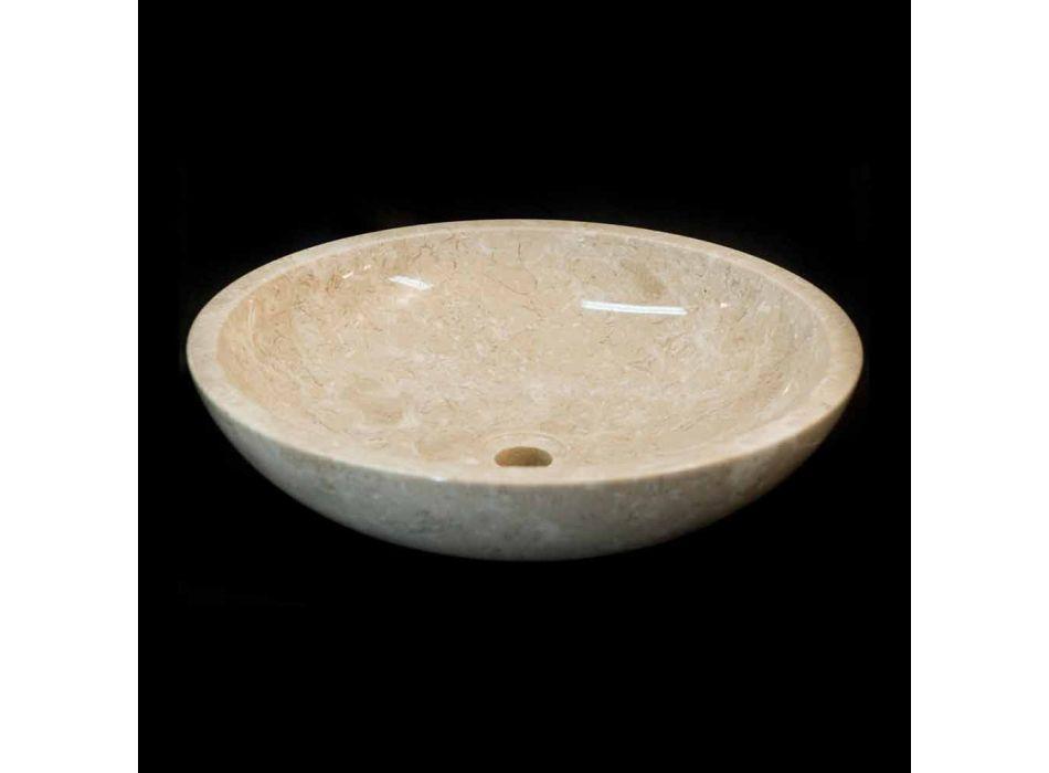 Weiß Waschbecken aus Naturstein Ziva, ein Stück