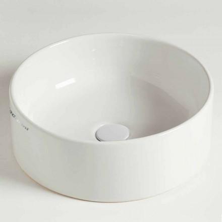 Modernes rundes Aufsatzwaschbecken aus Keramik Made in Italy - Rotolino