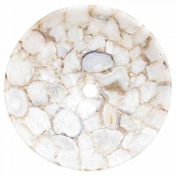Design Aufsatzwaschbecken aus kristallinem Stein Poncho