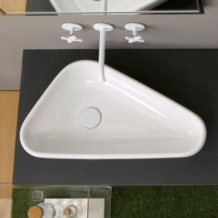 Aufsatzwaschbecken aus Keramik in modernem Design made in Italy Sofia