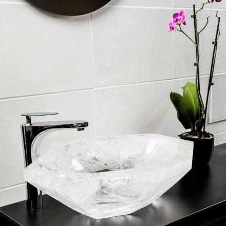 Handgearbeitetes Aufsatzwaschbecken aus Bergkristall - Falvaterra