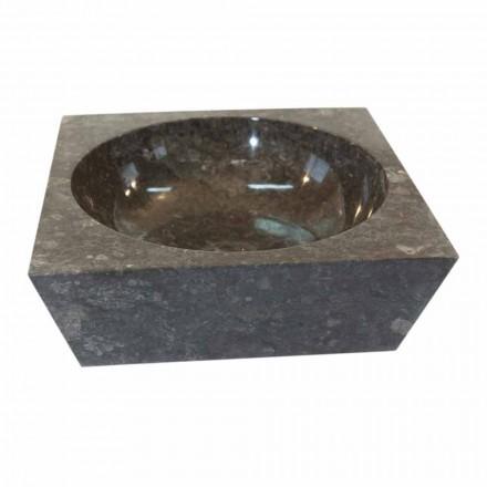 Aufsatzwaschbecken viereckig aus naturstein grau Jiny