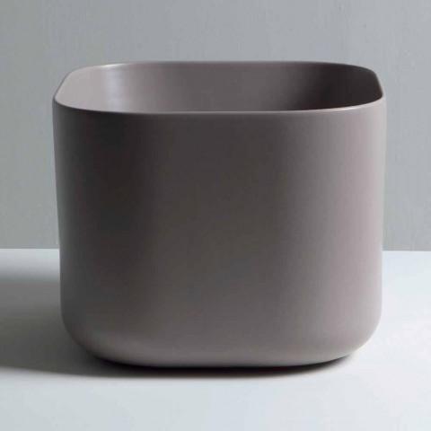 Modernes Design-Arbeitsplatte aus Keramik Waschbecken Star Square 40x40 cm