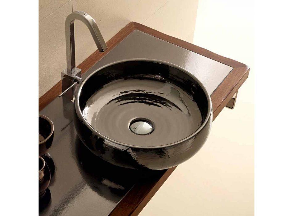 Aufsatzwaschbecken Raku aus Keramik, handgefertigt in Italien, Ramon