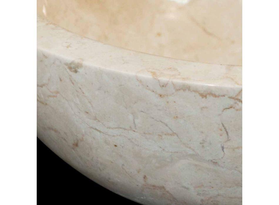 Waschbecken in der natürlichen weißen Stein Levi, ein Stück