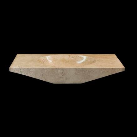 Aufsatzwaschbecken aus Naturstein weiß Vox, Einzelstück