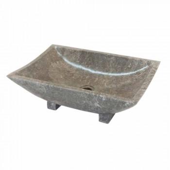 Waschbecken in natürlichen grauen Stein Iria, ein Stück