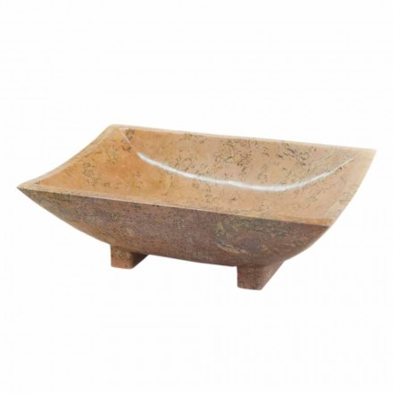 Aufsatzwaschbecken aus Naturstein Iria, 50x30x16 cm
